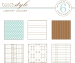 "Library Ledger Patterned Paper 8""X8"" (36 sheets)"