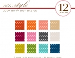 "2009 Bitty Dot Basics Patterned Paper 8""X8"" (36 sheets)"
