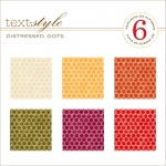 "Distressed Dots Patterned Paper 8""X8"" (36 sheets)"