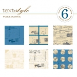 "Postmarks Patterned Paper 8""X8"" (36 sheets)"