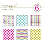 "Funky Town Patterned Paper 8""X8"" (36 sheets)"