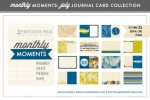 Monthly Moments: July Journal Card Paper Collection