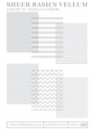 Sheer Basics Vellum Patterned Paper Collection (18 sheets)