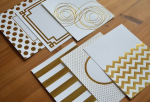 Gold Luxe Foil Patterned Paper Collection (24 sheets)