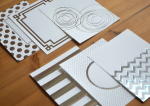 Silver Luxe Foil Patterned Paper Collection (24 sheets)
