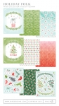 Holiday Folk Patterned Paper Collection (18 sheets)