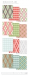 Holiday Plaid Patterned Paper Collection (36 sheets)