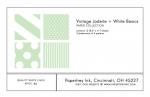 Vintage Jadeite + White Basics Patterned Paper Collection (12 sheets)