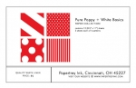 Pure Poppy + White Basics Patterned Paper Collection (12 sheets)