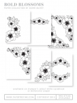 Bold Blossoms Coloring Sheets (18 sheets)