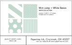 Mint Julep + White Basics Patterned Paper Collection (12 sheets)