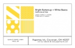 Bright Buttercup + White Basics Patterned Paper Collection (12 sheets)