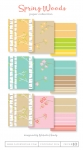 Spring Woods Patterned Paper Collection (36 sheets)