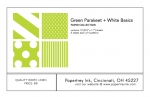 Green Parakeet + White Basics Patterned Paper Collection (12 sheets)