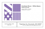 Amethyst Allure + White Basics Patterned Paper Collection (12 sheets)