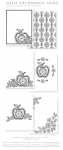 What the Doodle: Apple Coloring Sheets (18 sheets)