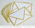 Don't Forget to Write: A1 Gold Seams Envelopes (10 envelopes)