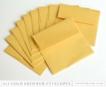 Don't Forget to Write: 4 x 4 Gold Shimmer Envelopes (10 envelopes)