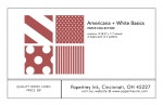 Americana + White Basics Patterned Paper Collection (12 sheets)
