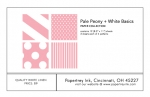 Pale Peony + White Basics Patterned Paper Collection (12 sheets)