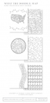 What the Doodle: Map Coloring Sheets (18 sheets)
