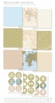 Traveler's Journal Patterned Paper Collection + Sticker Sheets (24 sheets)