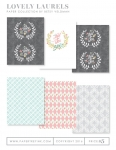 Lovely Laurels Patterned Paper Collection (18 sheets)