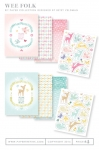 Wee Folk Patterned Paper Collection (16 sheets)