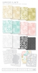Lovely Lace Patterned Paper Collection (34 sheets)