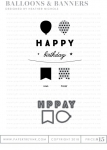 Buy It Live Exclusive - Balloons & Banners Stamp Set & Die Collection