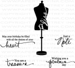 Signature Series: Dress Form Mini Stamp Set + Die Bundle