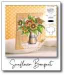 Sunflower Bouquet Stamp Set + Die Bundle