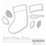 Papertrey Ink-Beaded Holiday: Stocking Die