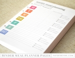 Moments Inked Meal Planner - Binder Edition