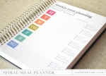 Moments Inked Meal Planner - Spiral Bound Edition