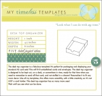 My Timeless Templates - Desk Top Organizer