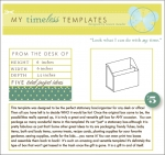 My Timeless Templates - From the Desk of