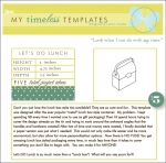 My Timeless Templates - Let's Do Lunch