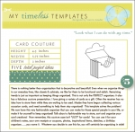 My Timeless Templates - Card Couture