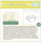 My Timeless Templates - Pack a Picnic