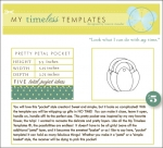 My Timeless Templates - Pretty Petal Pocket