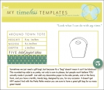 My Timeless Templates - Around Town Tote