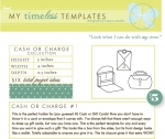 My Timeless Templates - Cash or Charge Collection