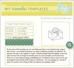 My Timeless Templates - Time for Take Out
