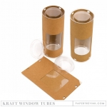Kraft Window Tubes (4 tubes)