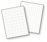 Guide Lines II Grid Sheets - White (10 sheets)