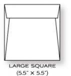 "Paper Basics - 5 1/2"" x 5 1/2"" Square Rustic White Envelopes (20)"