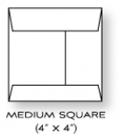 "Paper Basics - 4"" x 4"" Square Rustic White Envelopes (20)"