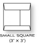 "Paper Basics - 3"" x 3"" Square Rustic White Envelopes (20)"