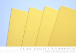 Paper Basics - Luxe Gold Cardstock (5 sheets)